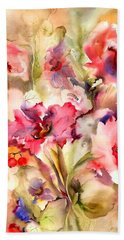 Lilies Hand Towel by Neela Pushparaj