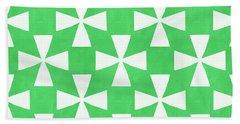 Lime Twirl Hand Towel by Linda Woods