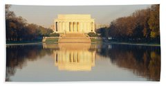Lincoln Memorial & Reflecting Pool Hand Towel by Panoramic Images