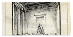 Lincoln Memorial Sketch IIi Hand Towel by Gary Bodnar