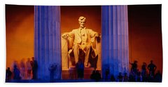 Lincoln Memorial, Washington Dc Hand Towel by Panoramic Images