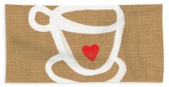 Little Cup Of Love Hand Towel by Linda Woods