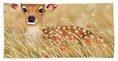 Little Fawn Hand Towel by Veronica Minozzi