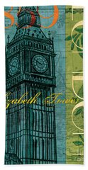 London 1859 Hand Towel by Debbie DeWitt