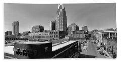 Looking Down On Nashville Hand Towel by Dan Sproul