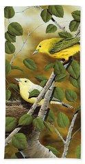 Love Nest Hand Towel by Rick Bainbridge