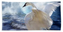 Love Swept Hand Towel by Carol Cavalaris