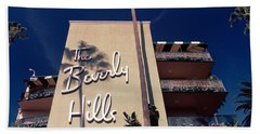 Low Angle View Of A Hotel, Beverly Hand Towel by Panoramic Images