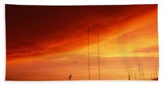 Low Angle View Of Antennas, Phoenix Hand Towel by Panoramic Images