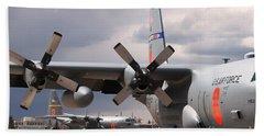 Bath Towel featuring the photograph Maffs C-130s At Cheyenne by Bill Gabbert
