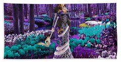 Magical Flower Garden Hand Towel by Marvin Blaine
