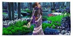 Magical Garden Hand Towel by Marvin Blaine