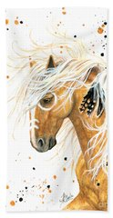 Majestic Palomino Horse 84 Hand Towel by AmyLyn Bihrle