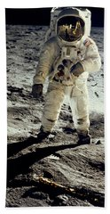 Man On The Moon Hand Towel by Neil Armstrong/Underwood Archive