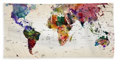 MAP Hand Towel by Mark Ashkenazi