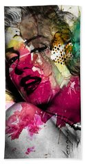 Marilyn Monroe Hand Towel by Mark Ashkenazi