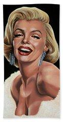 Marilyn Monroe Hand Towel by Paul Meijering