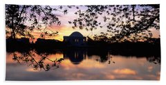 Memorial At The Waterfront, Jefferson Hand Towel by Panoramic Images