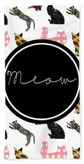 Meow Hand Towel by Pati Photography