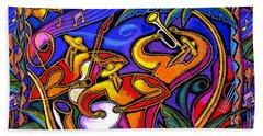 Latin Music Hand Towel by Leon Zernitsky