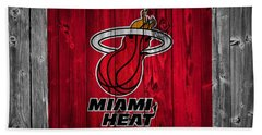 Miami Heat Barn Door Hand Towel by Dan Sproul