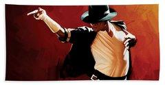 Michael Jackson Artwork 4 Hand Towel by Sheraz A