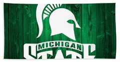 Michigan State Barn Door Hand Towel by Dan Sproul