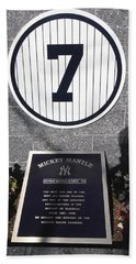 Mickey Mantle Hand Towel by Allen Beatty