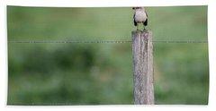 Minimalism Mockingbird Hand Towel by Bill Wakeley