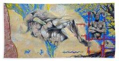 Minotaur Hand Towel by Derrick Higgins