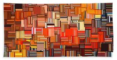 Modern Abstract Xxxi Hand Towel by Lourry Legarde