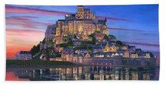 Mont Saint-michel Soir Hand Towel by Richard Harpum