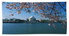 Monument At The Waterfront, Jefferson Hand Towel by Panoramic Images