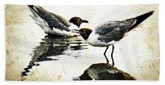 Morning Gulls - Seagull Art By Sharon Cummings Hand Towel by Sharon Cummings