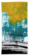 Morning Ride Hand Towel by Linda Woods