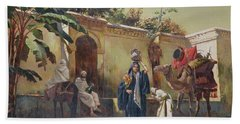 Moroccan Scene Hand Towel by Rudolphe Ernst