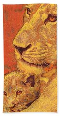 Mother And Cub Hand Towel by Jane Schnetlage