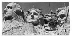 Mount Rushmore In South Dakota Hand Towel by Underwood Archives