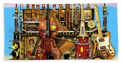 Music Castle Hand Towel by Colin Thompson