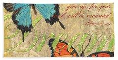 Musical Butterflies 1 Hand Towel by Debbie DeWitt