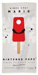 My Nintendo Ice Pop - Mario Hand Towel by Chungkong Art