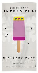 My Nintendo Ice Pop - Princess Peach Hand Towel by Chungkong Art