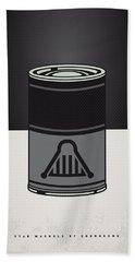 My Star Warhols Darth Vader Minimal Can Poster Hand Towel by Chungkong Art