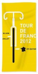 My Tour De France 2012 Minimal Poster Hand Towel by Chungkong Art