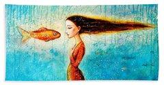 Mystic Mermaid II Hand Towel by Shijun Munns