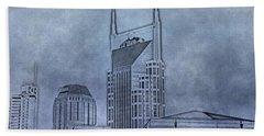 Nashville Skyline Sketch Hand Towel by Dan Sproul