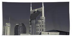Nashville Tennessee Batman Building Hand Towel by Dan Sproul