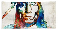 Native American Art By Sharon Cummings Hand Towel by Sharon Cummings