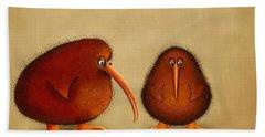 New Arrival. Kiwi Bird - Sweet As - Boy Hand Towel by Marlene Watson