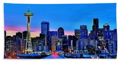 New Seattle Day Hand Towel by Benjamin Yeager